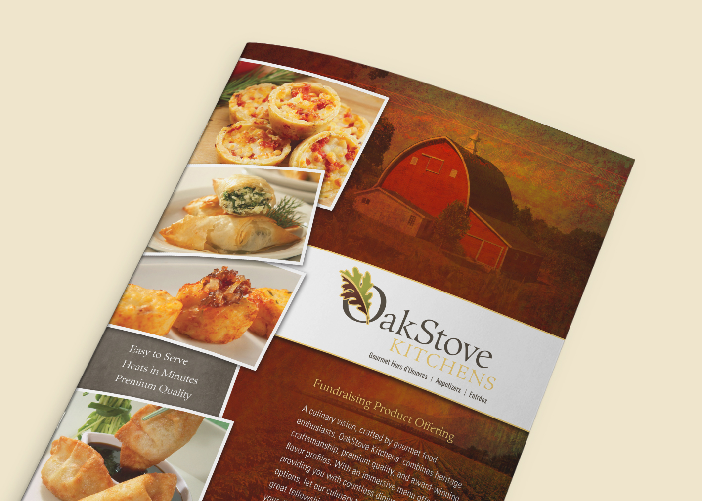 Food Catalog, Branding and Sales Materials